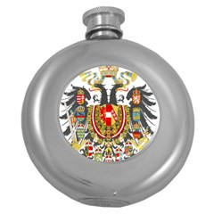 Imperial Coat Of Arms Of Austria Hungary  Round Hip Flask (5 Oz)