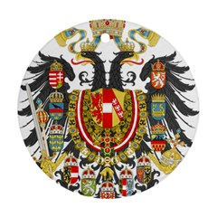 Imperial Coat Of Arms Of Austria Hungary  Round Ornament (two Sides)