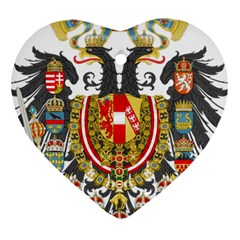 Imperial Coat Of Arms Of Austria Hungary  Heart Ornament (two Sides)
