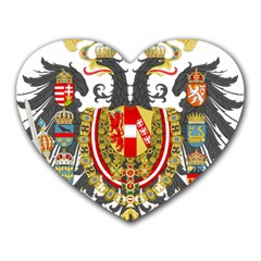 Imperial Coat Of Arms Of Austria Hungary  Heart Mousepads