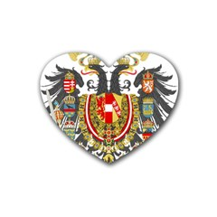 Imperial Coat Of Arms Of Austria Hungary  Heart Coaster (4 Pack)