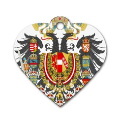 Imperial Coat Of Arms Of Austria Hungary  Dog Tag Heart (two Sides)