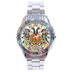 Imperial Coat Of Arms Of Austria Hungary  Stainless Steel Analogue Watch by abbeyz71