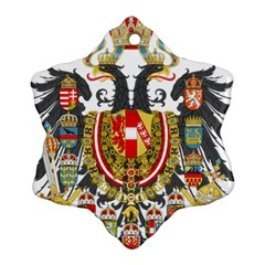 Imperial Coat Of Arms Of Austria Hungary  Snowflake Ornament (two Sides)