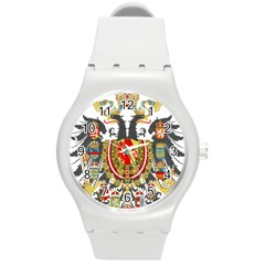 Imperial Coat Of Arms Of Austria Hungary  Round Plastic Sport Watch (m)