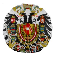 Imperial Coat Of Arms Of Austria Hungary  Large 18  Premium Round Cushions