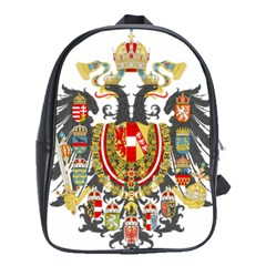 Imperial Coat Of Arms Of Austria-hungary  School Bag (xl) by abbeyz71