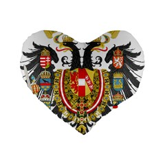 Imperial Coat Of Arms Of Austria Hungary  Standard 16  Premium Heart Shape Cushions