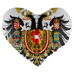 Imperial Coat Of Arms Of Austria Hungary  Large 19  Premium Heart Shape Cushions