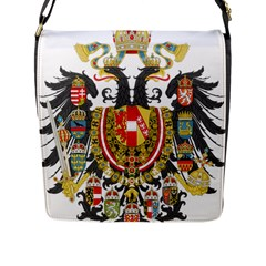 Imperial Coat Of Arms Of Austria Hungary  Flap Messenger Bag (l)