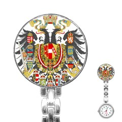 Imperial Coat Of Arms Of Austria Hungary  Stainless Steel Nurses Watch