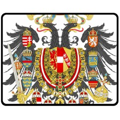 Imperial Coat Of Arms Of Austria Hungary  Double Sided Fleece Blanket (medium)