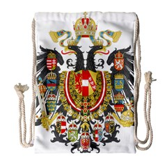 Imperial Coat Of Arms Of Austria-hungary  Drawstring Bag (large) by abbeyz71