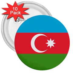Roundel Of Azerbaijan Air Force 3  Buttons (10 Pack)  by abbeyz71