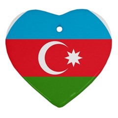 Roundel Of Azerbaijan Air Force Heart Ornament (two Sides) by abbeyz71