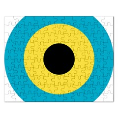 Roundel Of Royal Bahamas Defence Force Air Wing Rectangular Jigsaw Puzzl by abbeyz71