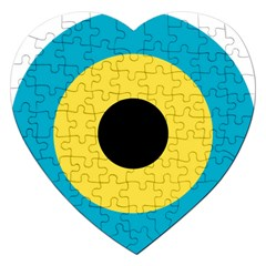 Roundel Of Royal Bahamas Defence Force Air Wing Jigsaw Puzzle (heart) by abbeyz71