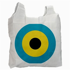 Roundel Of Royal Bahamas Defence Force Air Wing Recycle Bag (one Side) by abbeyz71