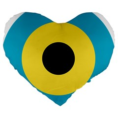 Roundel Of Royal Bahamas Defence Force Air Wing Large 19  Premium Heart Shape Cushions by abbeyz71
