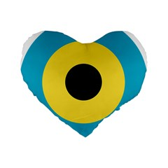 Roundel Of Royal Bahamas Defence Force Air Wing Standard 16  Premium Flano Heart Shape Cushions by abbeyz71