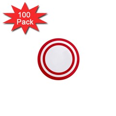 Roundel Of Bahrain Air Force 1  Mini Magnets (100 Pack)  by abbeyz71