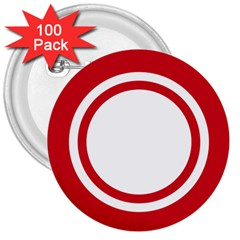 Roundel Of Bahrain Air Force 3  Buttons (100 Pack)  by abbeyz71