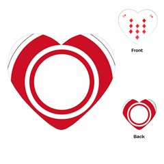 Roundel Of Bahrain Air Force Playing Cards (heart)