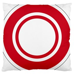 Roundel Of Bahrain Air Force Large Cushion Case (two Sides)