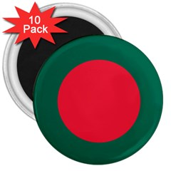 Roundel Of Bangladesh Air Force 3  Magnets (10 Pack)  by abbeyz71