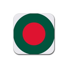 Roundel Of Bangladesh Air Force Rubber Square Coaster (4 Pack)  by abbeyz71