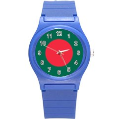 Roundel Of Bangladesh Air Force Round Plastic Sport Watch (s) by abbeyz71