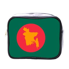 Flag Of Bangladesh, 1971 Mini Toiletries Bags by abbeyz71
