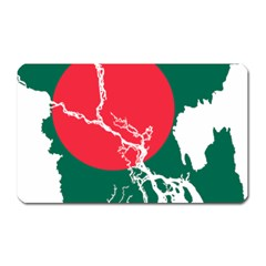 Flag Map Of Bangladesh Magnet (rectangular) by abbeyz71