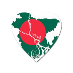 Flag Map Of Bangladesh Heart Magnet by abbeyz71