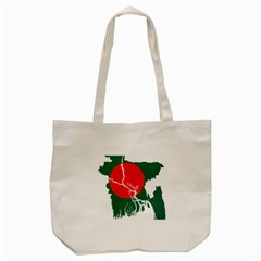 Flag Map Of Bangladesh Tote Bag (cream) by abbeyz71