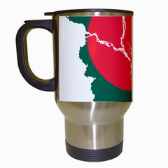 Flag Map Of Bangladesh Travel Mugs (white) by abbeyz71