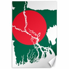 Flag Map Of Bangladesh Canvas 24  X 36  by abbeyz71
