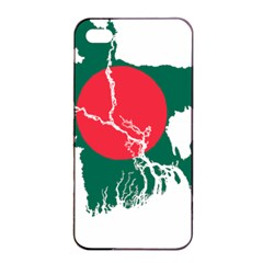Flag Map Of Bangladesh Apple Iphone 4/4s Seamless Case (black) by abbeyz71