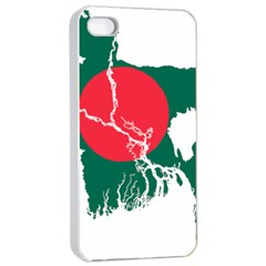 Flag Map Of Bangladesh Apple Iphone 4/4s Seamless Case (white) by abbeyz71
