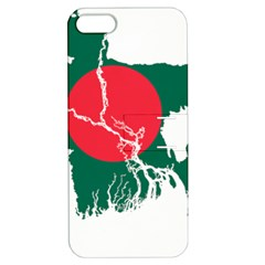 Flag Map Of Bangladesh Apple Iphone 5 Hardshell Case With Stand by abbeyz71