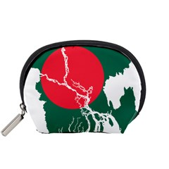 Flag Map Of Bangladesh Accessory Pouches (small)  by abbeyz71