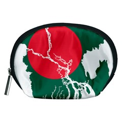 Flag Map Of Bangladesh Accessory Pouches (medium)  by abbeyz71