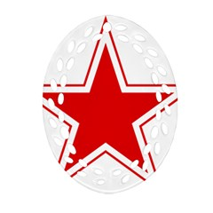Roundel Of Belarusian Air Force Ornament (oval Filigree) by abbeyz71