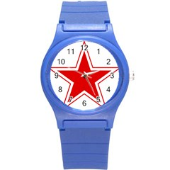 Roundel Of Belarusian Air Force Round Plastic Sport Watch (s) by abbeyz71