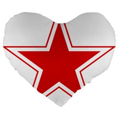 Roundel Of Belarusian Air Force Large 19  Premium Heart Shape Cushions by abbeyz71