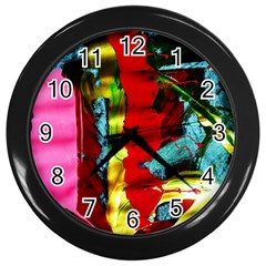 Totem 8 Wall Clocks (black) by bestdesignintheworld