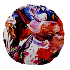 Cabin In The Mountain 2 Large 18  Premium Flano Round Cushions