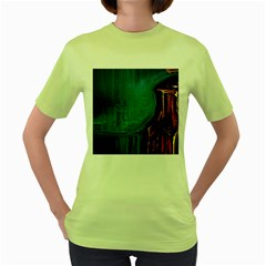 Ceramics Of Ancient Land 10 Women s Green T Shirt