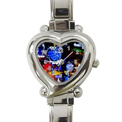 Balboa   Island On A Snd 3 Heart Italian Charm Watch