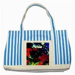 Balboa   Island On A Sand 12 Striped Blue Tote Bag by bestdesignintheworld
